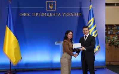 Президент України Володимир Зеленський відзначив державною премією молодого вченого ДВНЗ УДХТУ