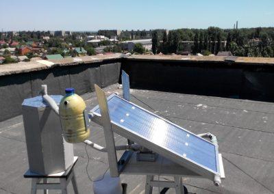 Натурні випробування  поліімерних сонячних колекторів