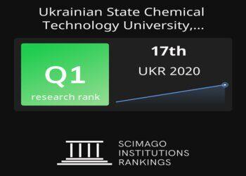 Рейтинг SCImago IR 2020: УДХТУ в ТОП-5 ЗВО України