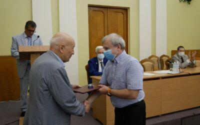Урочисте вручення диплому та нагрудного знаку члена-кореспондента НАН України  завідувачу кафедри фізичної хімії